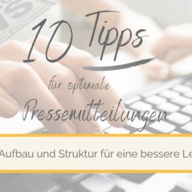 10 Tipps für Pressemitteilungen_Tipp 2 Aufbau und Struktur