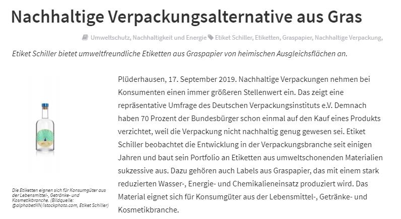Beispiel Headline_Nachhaltige_Verpackungsalternative_aus_Gras