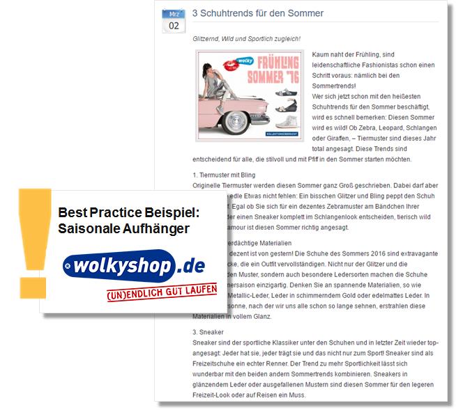 Sommer PR Pressemitteilung von wolkyshop mit Schuhtrends für den Sommer