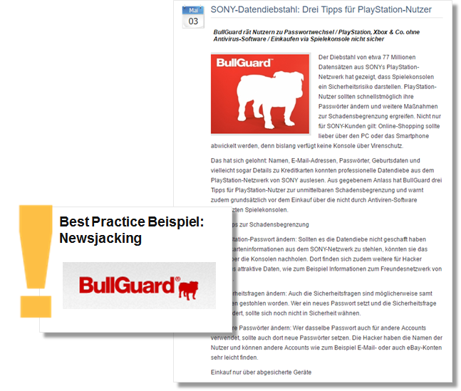 Best Practice Bullgard Sony Datendienbstahl