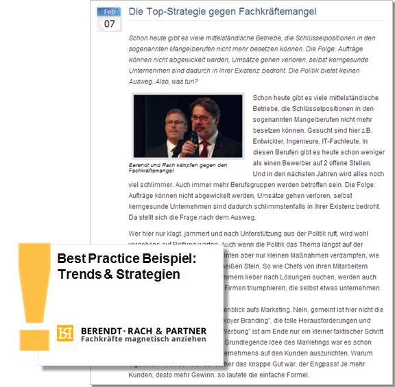 Best Practice Top Strategien gegen den Fachkräftemangel