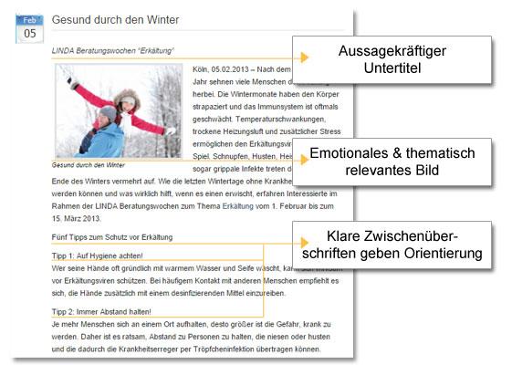 Beispiel Online Pressemitteilung Linda Apotheken