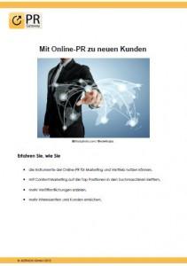 Mit Online-PR zu neuen Kunden