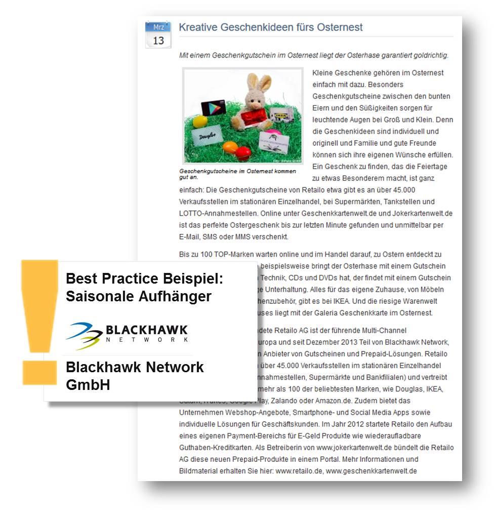Pressemitteilung von Blackhawk Network GmbH gibt kreative Geschenkideen fürs Osternest