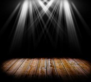 Lighting on a wooden floor