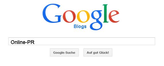 Google Blog-Suche