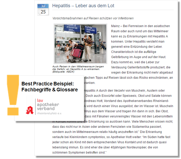 Pressemitteilung_Fachverband der Apotheker_Hepatitis_Leber aus dem Lot