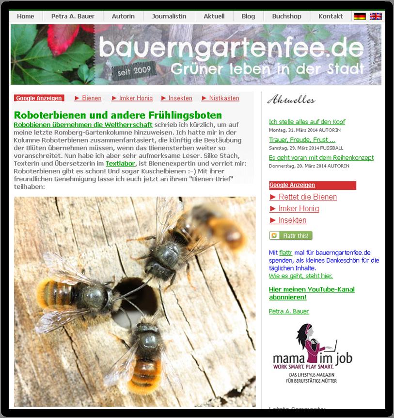 """Beispiel-Blog """"Bauerngartenfee"""""""
