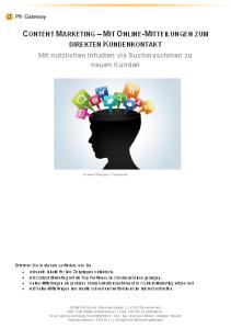 Content Marketing mit Online-Mitteilungen