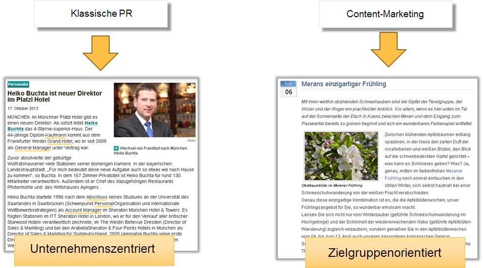 Klassische PR vs. Content Marketing