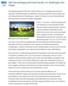 Best Practice WM-Pressemitteilung Bewertungsportal Gut oder Schlecht