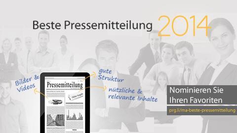 Beste Online-Pressemitteilung 2014