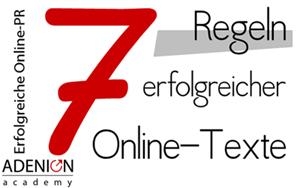 """Cover zum Online-Seminar: """"7 Regeln erfolgreicher PR mit Online-Pressemitteilungen"""""""