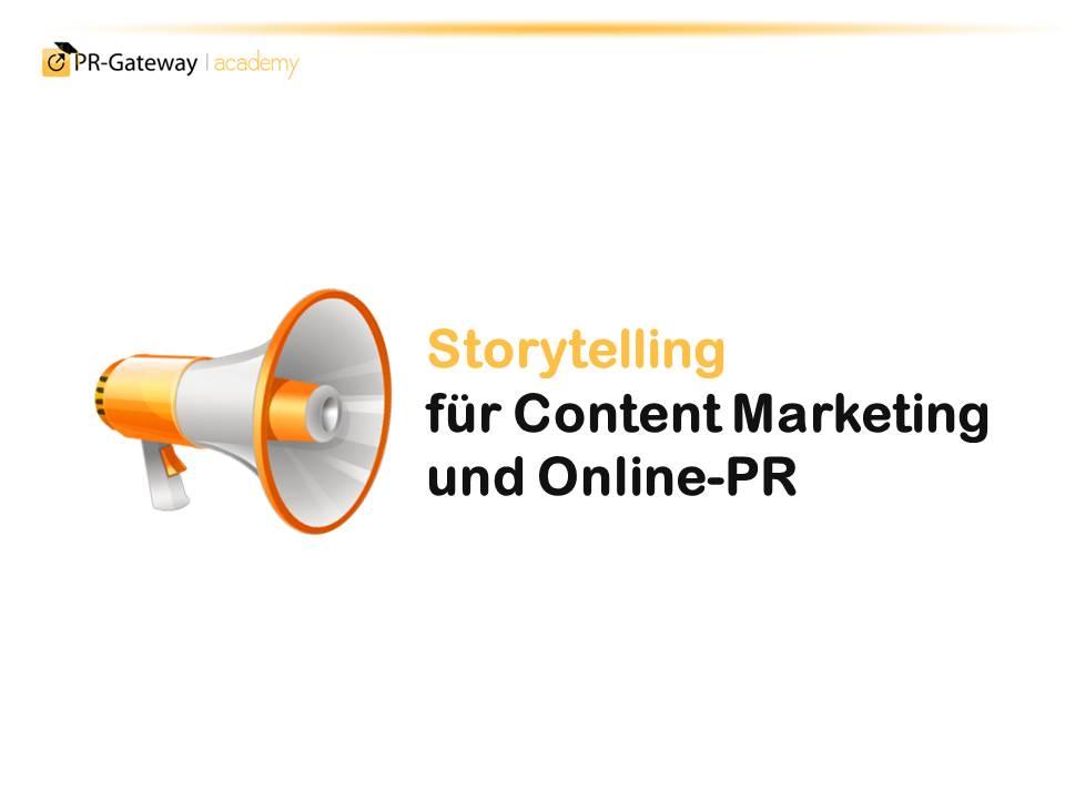Sterytelling für Content Marketing und Online-PR