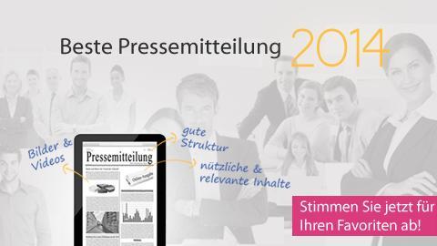 Stimmen Sie für die beste Online-Pressemitteilung 2014 ab