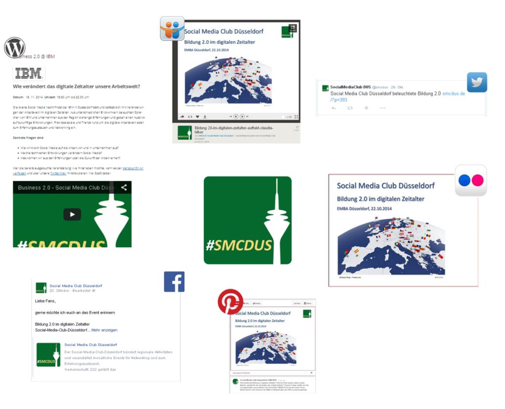 Der Social Media Club Düsseldorf nutzt alle seine Kanäle zur Verbreitung von Veranstaltungs-News