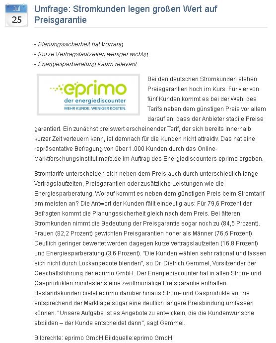 Best Practice Beispiel Energiediscounter eprimo