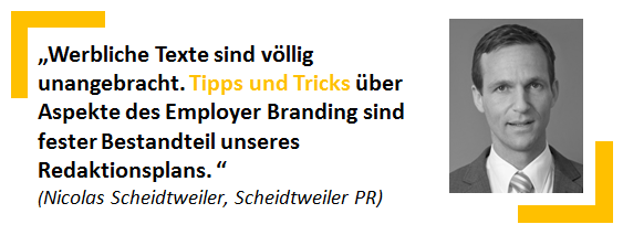 Nicolas Scheidtweiler, Scheidtweiler PR