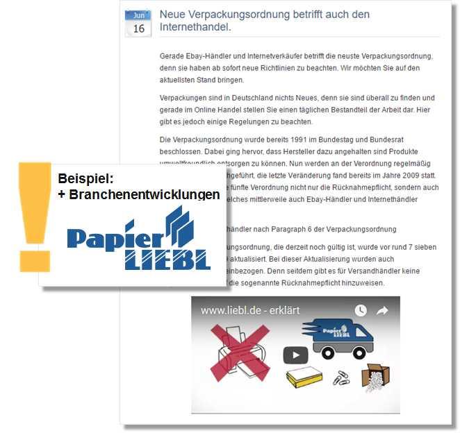 Pressemitteilung Papier Liebl GmbH zur neuen Verpackungsverordnungen