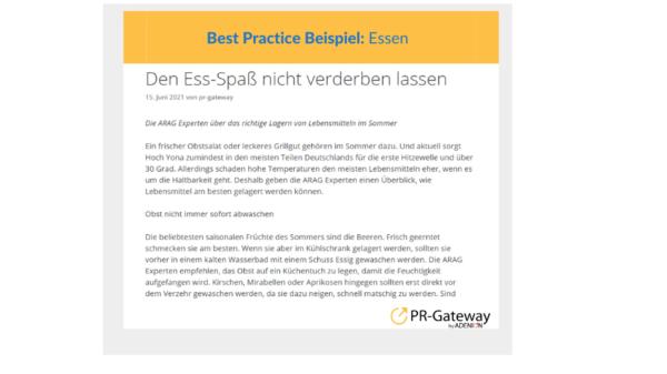Best Practice ARAG Essen