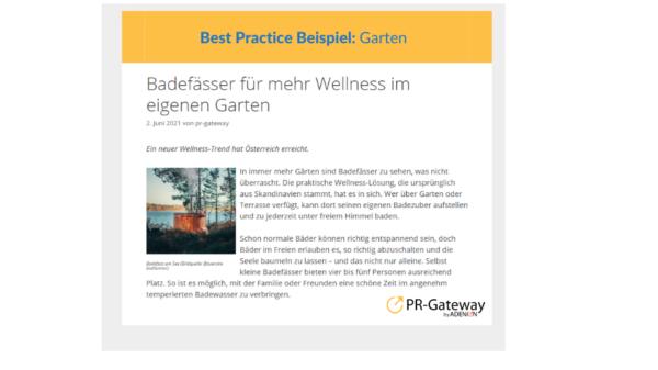 Heimelier GmbH: Badefässer für mehr Wellness