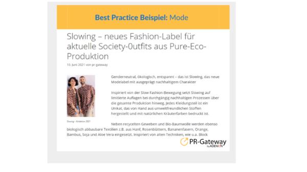 Best Practice Slowing