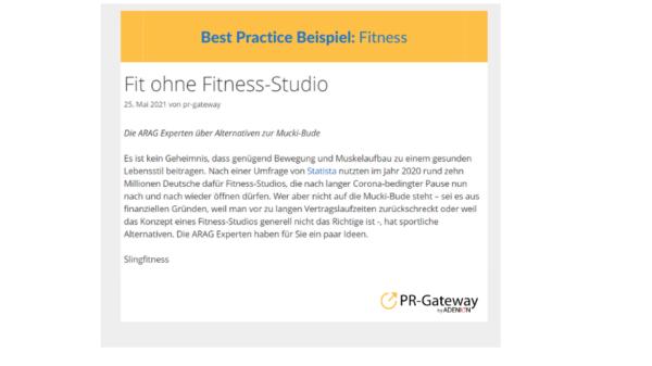 ARAG-Experten: Fitness Tipps