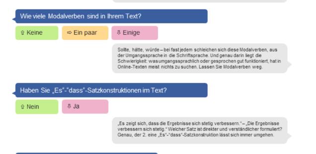 Infografik Checkliste Textanalyse