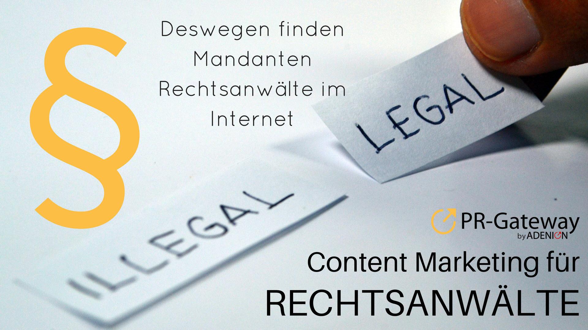Kanzleimarketing für Rechtsanwälte