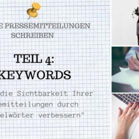 Optimale Online Pressemitteilungen schreiben Teil 4 Keywords