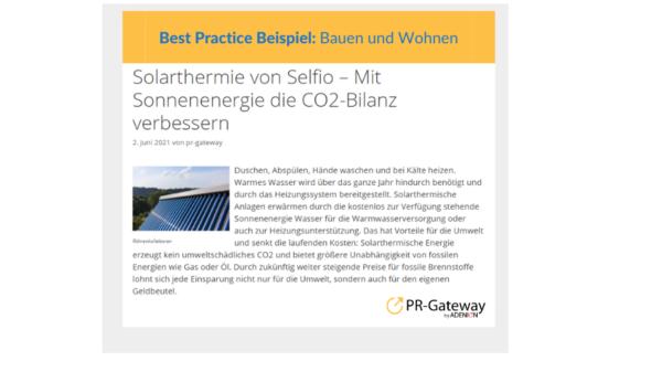 Solarthermie von Selfio
