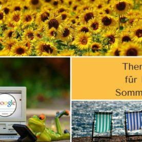 Sommer-PR-Tipps mit vielen Themenideen für Ihre Pressearbeit