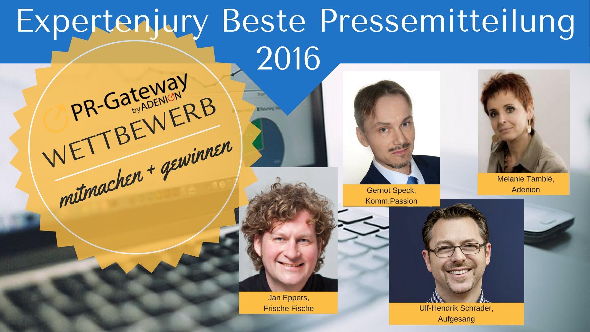 Jury beste Pressemitteilung 2016