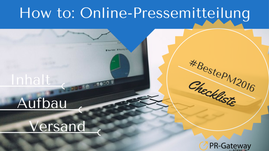 How to: Online-Pressemitteilung