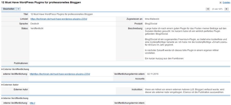 Presseclipping: Besipiel Archivierung von Online-Medien