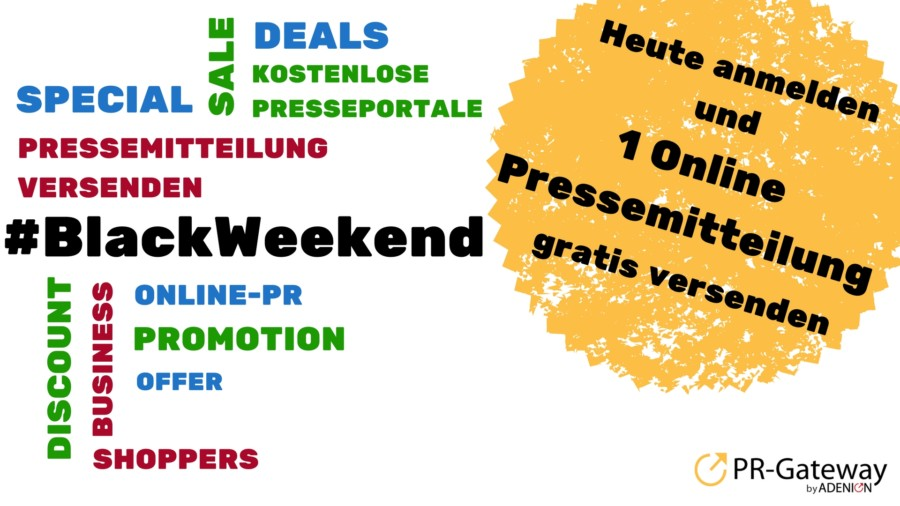Black Weekend bei PR-Gateway