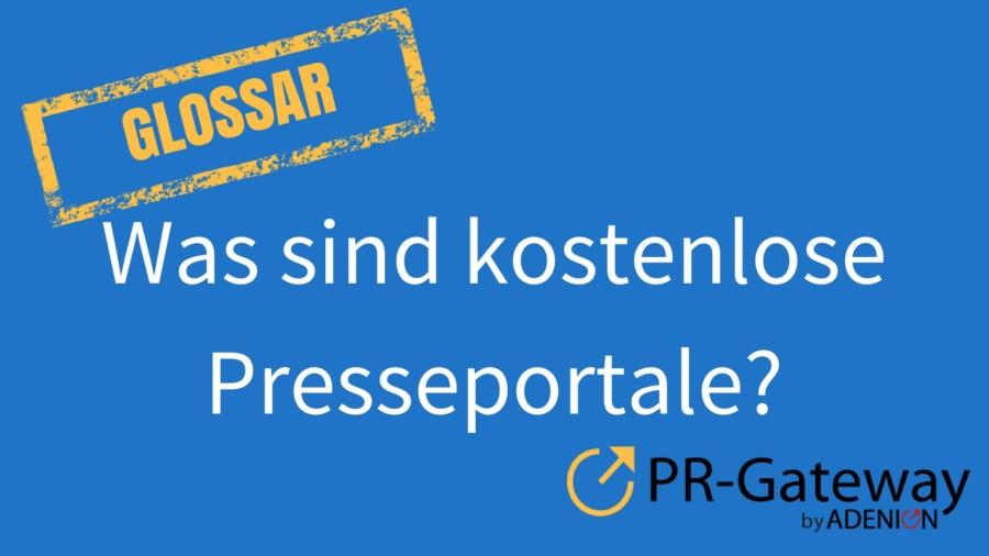 Was sind kostenlose Presseportale?