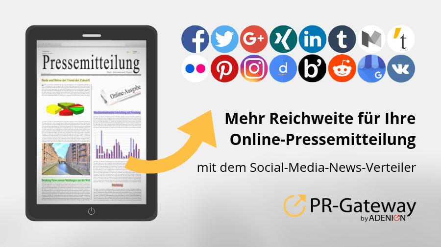 Mehr Reichweite für Ihre Online-Pressemitteilung mit dem Social-Media-News-Verteiler