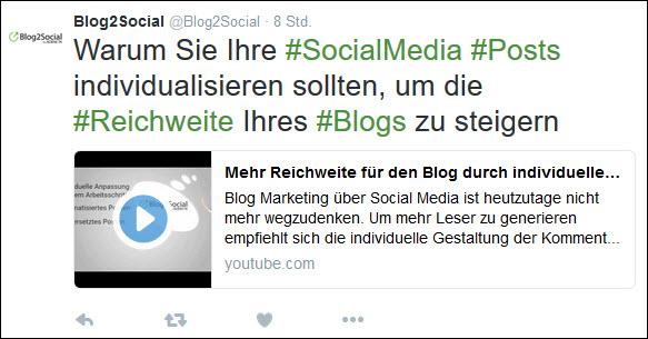 Social Media PR: Ihre Videos können direkt in den Social Media abgespielt werden.