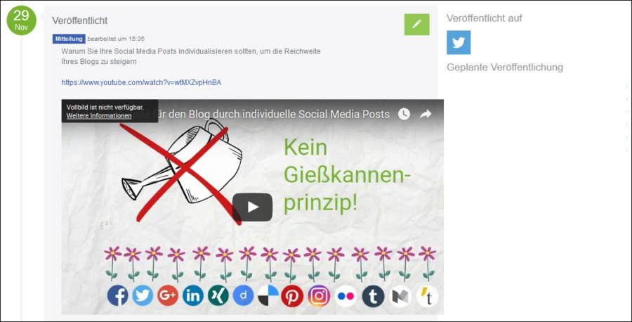 Social Media PR: Videos posten