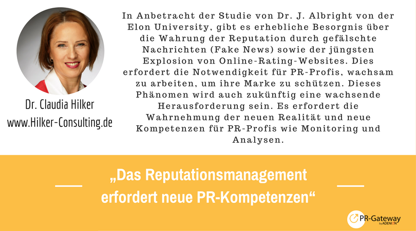 PR-Megatrends 2017: Dr. Claudia Hilker, Hilker-Consulting.de