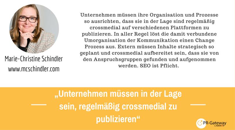 PR-Megatrends 2017: Marie-Christine Schindler, mcschindler.com