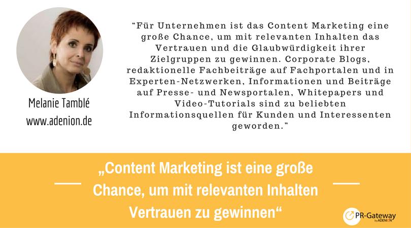 PR-Megatrends 2017: Kommentar, Melanie Tamblé, adenion.de