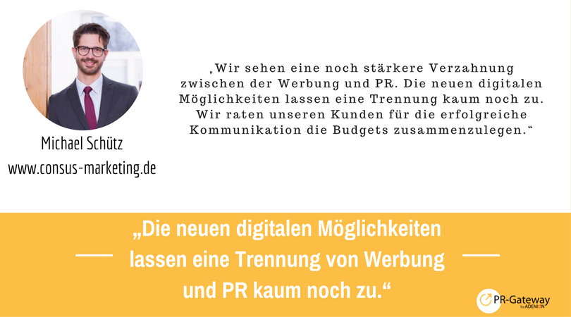 PR-Megatrends 2017: iachael Schütz, consus-marketing.de