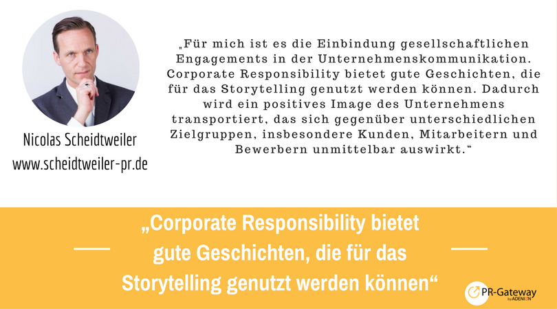 PR-Megatrends 2017: Nicolas Scheidtweiler, Scheidtweiler-PR.de
