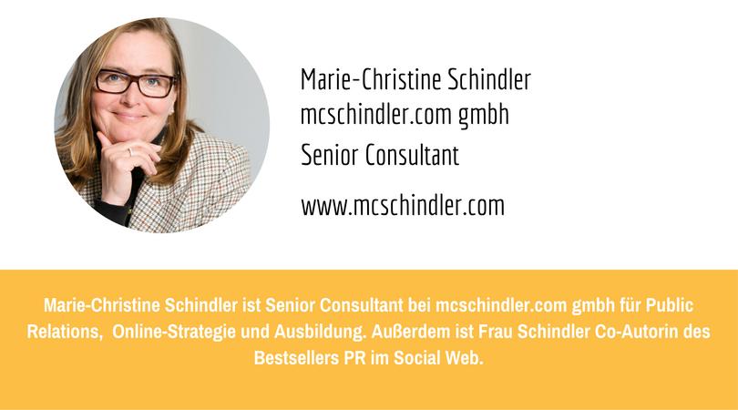 PR-Megatrends 2017: Marie-Christine Schindler