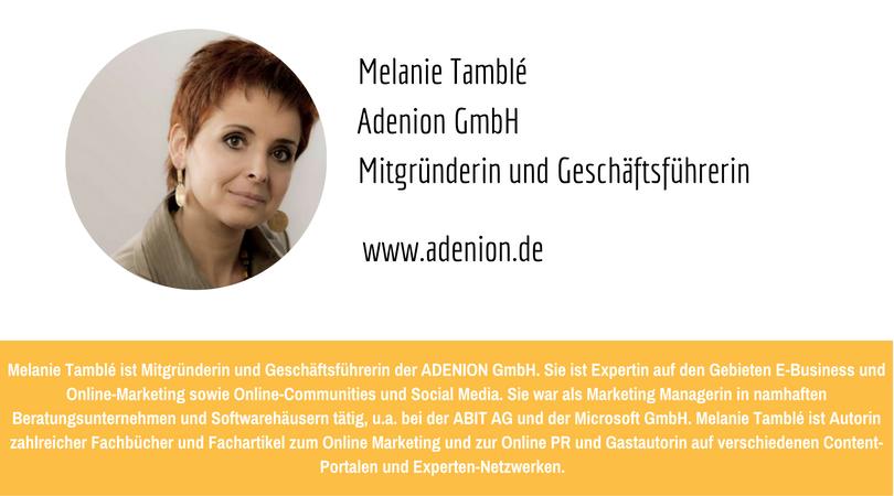 PR-Megatrends 2017: Melanie Tamblé