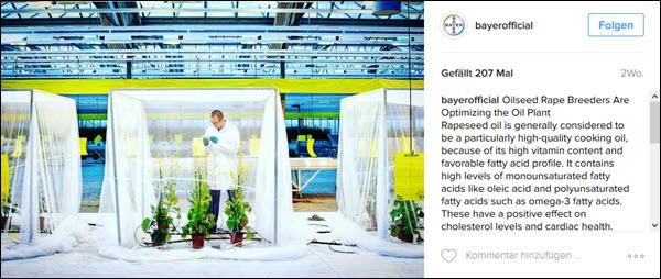 Bayer zeigt bei Instagram Kompetenz und Kundennähe
