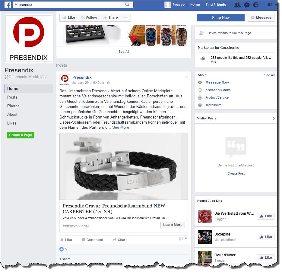 Auf Facebook kommt das Bild mit dem individualisierten Text besonders gut zur Wirkung