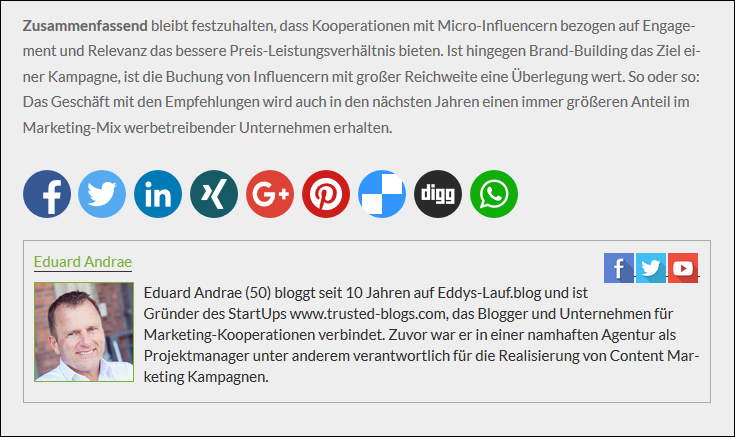 Fachartikel direkt in den Social Media teilen durch Social Sharings